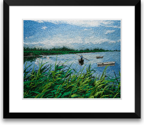 Swaying Fishboat Among Reed Marshes-1