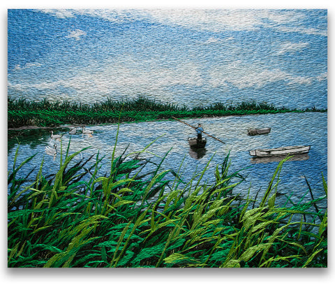 Swaying Fishboat Among Reed Marshes-3