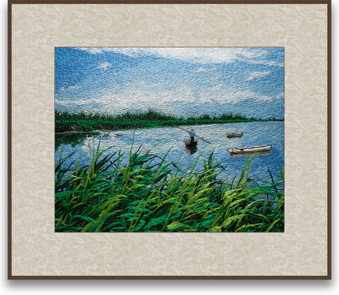 Swaying Fishboat Among Reed Marshes-2