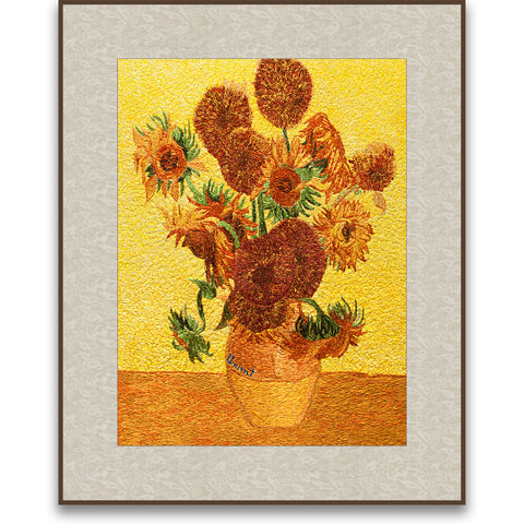 Vase of Fifteen Sunflowers-2