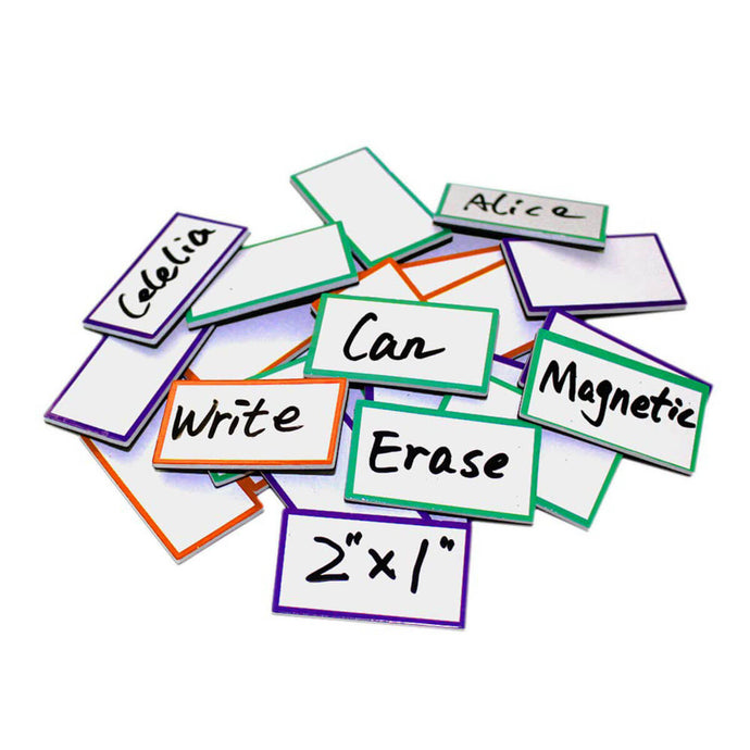 Magnetic Dry Erase Labels/Name-plate, Effective on Schedule Board/Fridge/Whiteboard 36-Pcs, 2