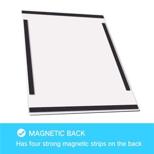 "ZHIDIAN 6-Pack Magnetic Back Document Sign Holder for Whiteboard/Chalkboard/Fridge, 8.2"" x 11.6"", Silver, Display Frame"
