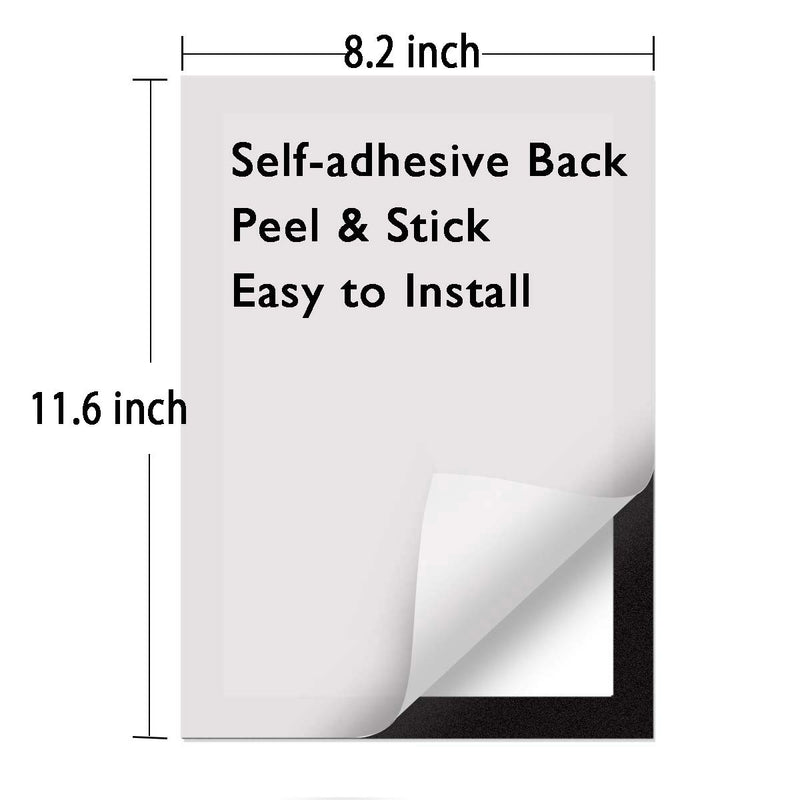 ZHIDIAN Document Sign Holder Pockets with Adhesive Back, Plastic Poster Picture Notice Display Frame for Window/Door/Wall/Cabinet, 8.5 x 11.6 Inches, Silver, 12 Pack
