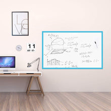 Load image into Gallery viewer, Large Magnetic Whiteboard Sticker for Wall | Non-Adhesive Back with Dry Erase Board Surface | 94 x 48 Inches, Includes 2 Markers 6 Magnets | Thick and Removable