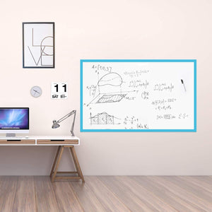 Large Magnetic Whiteboard Sticker for Wall | Non-Adhesive Back with Dry Erase Board Surface | 48 x 36 Inches, Includes 2 Markers 6 Magnets | Thick and Removable
