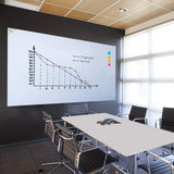 "Non-Adhesive Backed Magnetic Dry-Erase Board for Wall, Whiteboard Sticker 94""x48"""