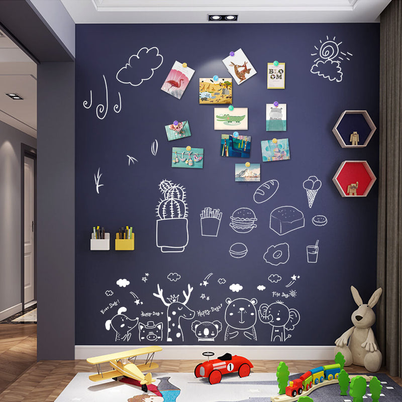 MAKUANG Colored Decorative Chalkboard Sticker for Wall, Magnetic Receptive Contact Paper, Self-Adhesive Wallpaper Roll Blackboard for Home Kitchen Decoration
