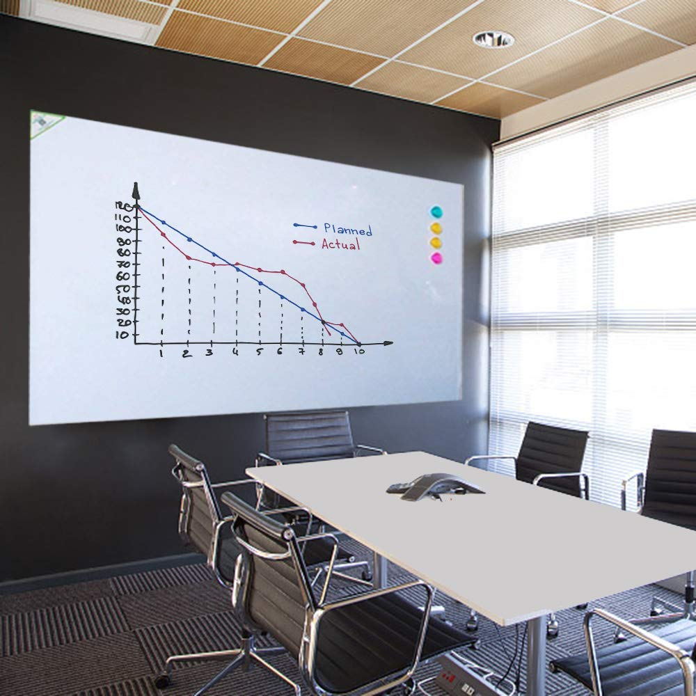 "Non-Adhesive Backed Magnetic Dry-Erase Board for Wall, Whiteboard Sticker 60""x36"""