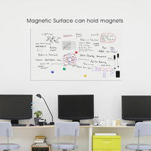 Load image into Gallery viewer, Self-Adhesive Magnetic Whiteboard for Wall, Peel & Stick Dry-Erase Board 60x36 inches