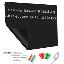 "Load image into Gallery viewer, ZHIDIAN Magnetic Chalkboard Contact Paper for Wall, 48"" x 36"" Non-Adhesive Back Chalkboard Wallpaper, Blackboard Wall Sticker with Chalks for Home/School/Playroom"