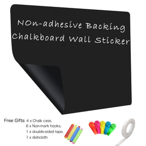 Non-adhesive Backed Magnetic Chalkboard Sticker for Wall, Chalkboard Contact Paper, 60x36 inches