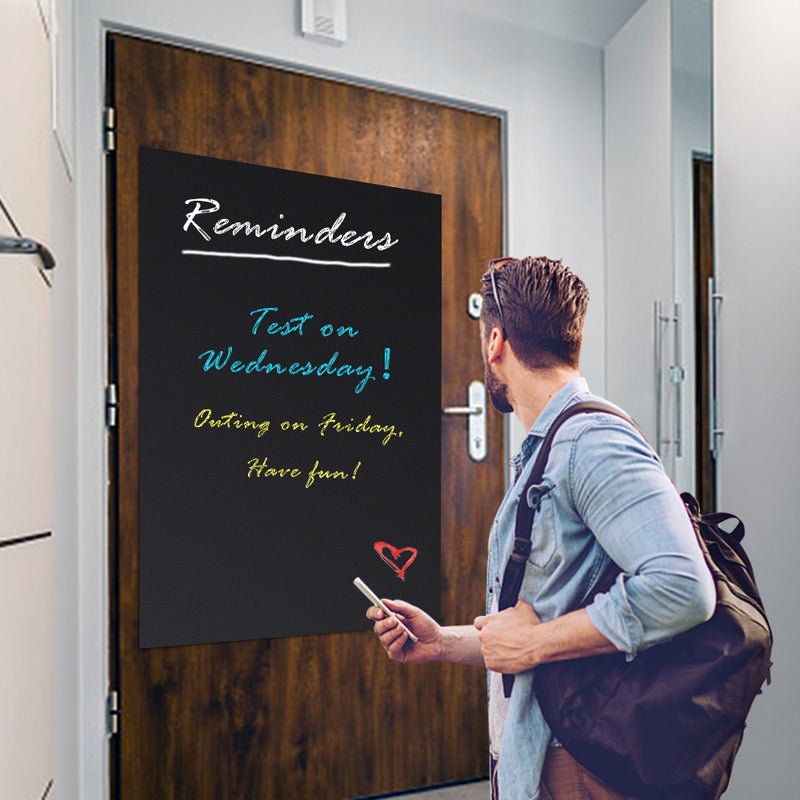 "ZHIDIAN Chalkboard Contact Paper, 60""x36"" Self Adhesive Black Board Decal Peel Stick Vinyl Wallpaper for Home/School/Office, Non-Magnetic"
