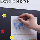 "Self-Adhesive & Magnetic Chalkboard for Wall, Peel and Stick Blackboard Roll 48""x36"""