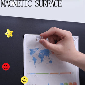 "Self-Adhesive & Magnetic Chalkboard for Wall, Peel and Stick Blackboard Roll 72""x48"""