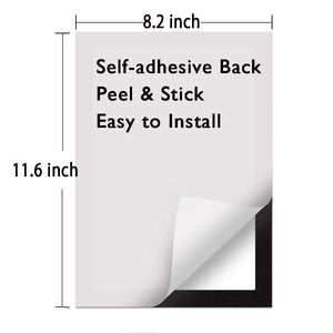 "ZHIDIAN 6-Pack Wall Document Sign Holder, Poster Frame for Window/Door, 8.2"" x 11.6"", Magnetic Frame with Adhesive Back, Black"