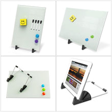 Load image into Gallery viewer, ZHIDIAN Small Glass Dry Erase Board Desktop Easel - 10 x 14 inches, Magnetic Glass Whiteboard on Stand for Table Desk, Great for Office Home, Stain-Resistant Tempered Glass