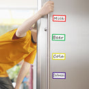 "Magnetic Dry Erase Labels/Name-plate, Effective on Schedule Board/Fridge/Whiteboard 36-Pcs, 2"" x 1"""