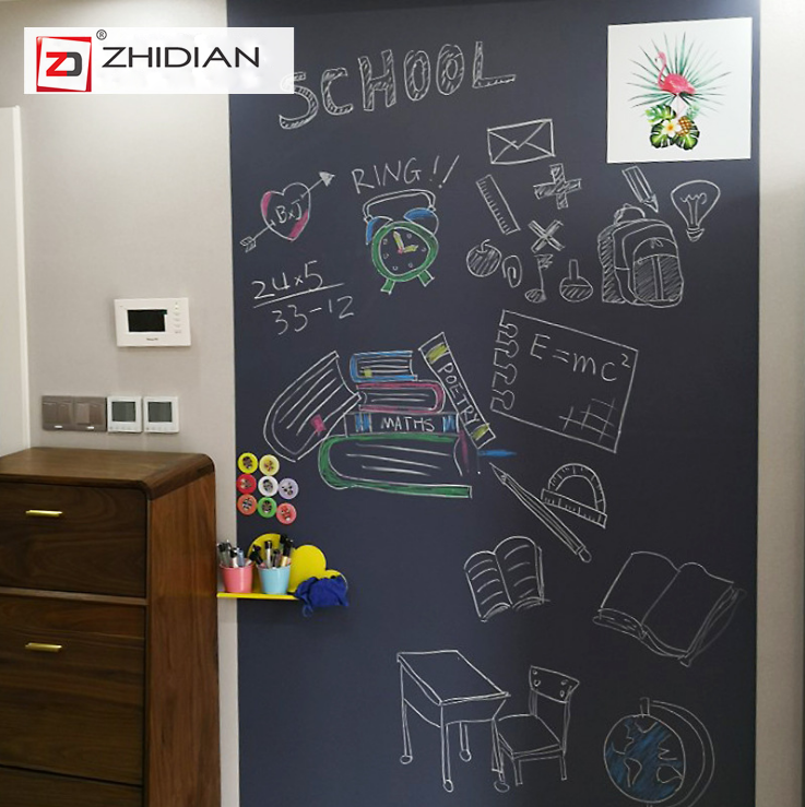 Self-Adhesive & Magnetic Chalkboard for Wall, Peel and Stick Blackboard Roll 17.7''x48""