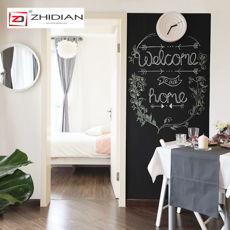 "ZHIDIAN Magnetic Chalkboard Contact Paper for Wall, 94"" x 48"" Non-Adhesive Back Chalkboard Wallpaper, Blackboard Wall Sticker with Chalks for Home/School/Playroom"