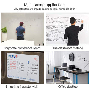 Self-Adhesive Magnetic Whiteboard for Wall, Peel & Stick Dry-Erase Board for Office / Home / School