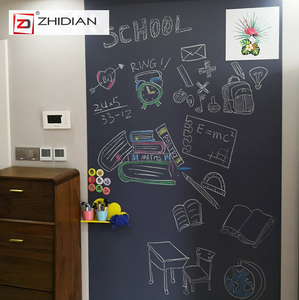 "Self-Adhesive & Magnetic Chalkboard for Wall, Peel and Stick Blackboard Roll 17.7""x60"""