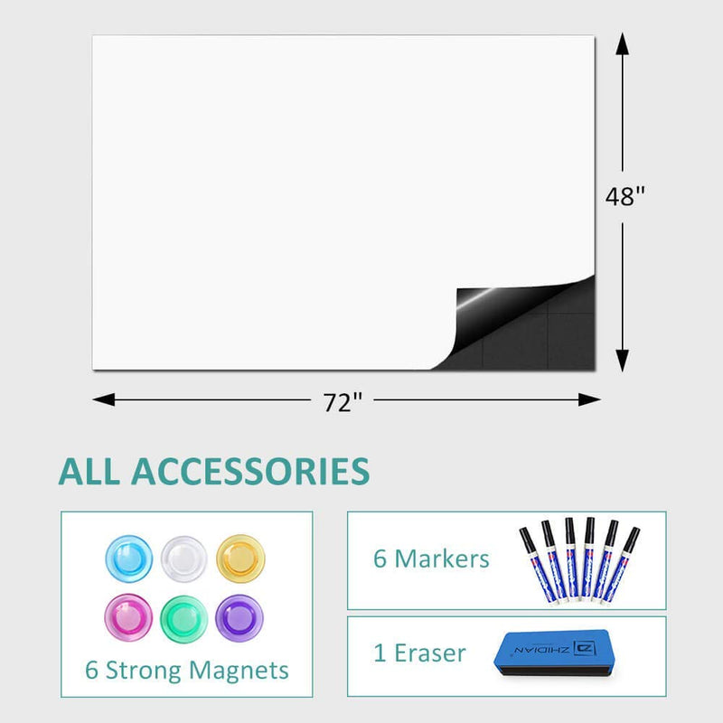 Whiteboard Sticker for Wall, Dry Erase Sheet Wallpaper, Double- Layer