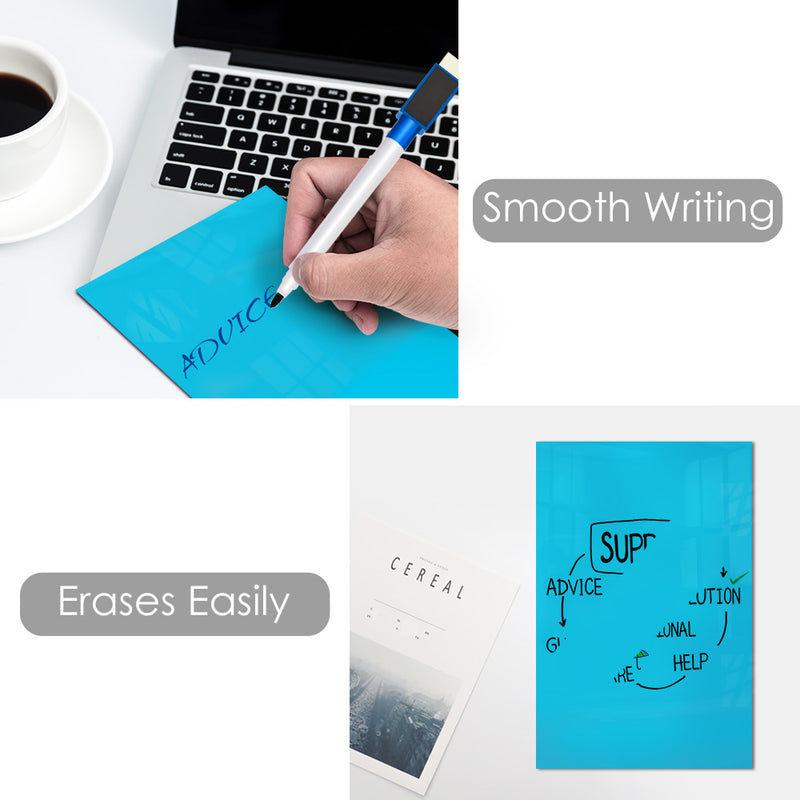 Dry Erase Self Sticky Notes, Reusable Whiteboard Stickers Reminders