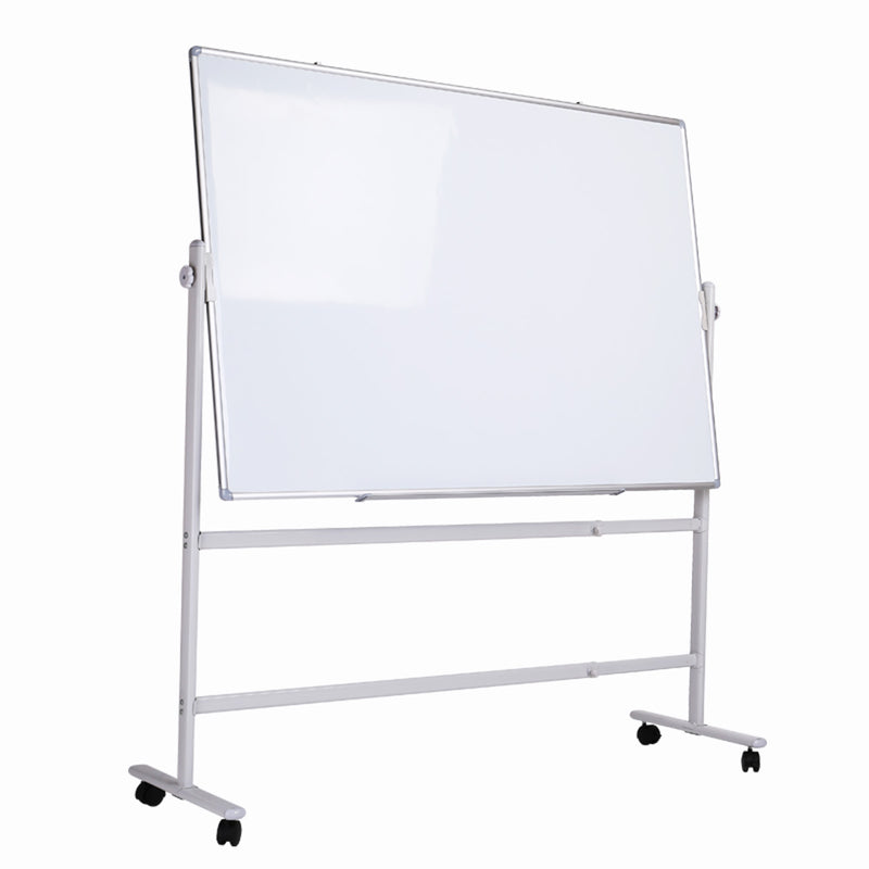 "Double-sided Magnetic Mobile Whiteboard with Stand, Height-adjustable & Lockable Wheels, 48"" x 36"""