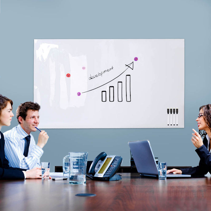 Non-adhesive Magnetic Whiteboard Sticker for Wall, Dry-Erase Board Roll for Office / Home / School