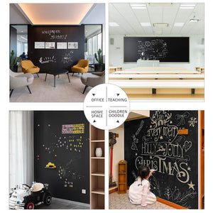 "Chalkboard Roll Magnetic Receptive Blackboard Wall Sticker with Chalks, 36"" x 24"", Non-Adhesive Back Removable Reusable Thick Chalkboard for School Classroom/Office/Home"