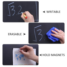 "Load image into Gallery viewer, Chalkboard Roll Magnetic Receptive Blackboard Wall Sticker with Chalks, 36"" x 24"", Non-Adhesive Back Removable Reusable Thick Chalkboard for School Classroom/Office/Home"