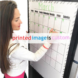Custom Printed Dry Erase Board, Magnetic Backing