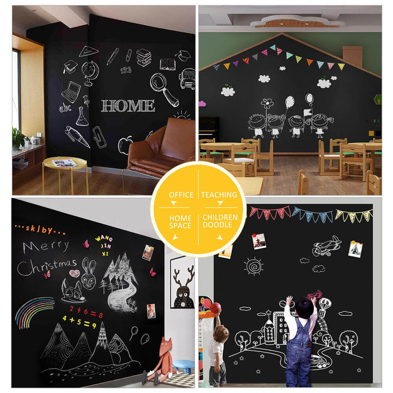 Thick Magnetic Chalkboard Contact Paper, Non-Adhesive Back Wallpaper