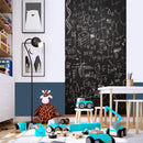 "ZHIDIAN Magnetic Chalkboard Contact Paper for Wall, 48"" x 24"" Non-Adhesive Back Chalkboard Wallpaper, Blackboard Wall Sticker with Chalks for Home/School/Playroom"