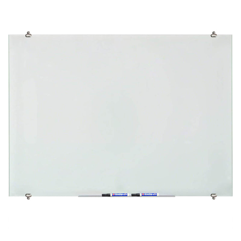 ZHIDIAN Glass Dry Erase Board, Magnetic Tempered Whiteboard for Wall, 4 Markers, 1 Eraser, 4 Magnets