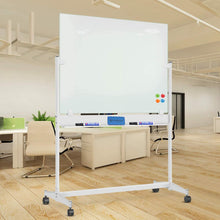 Load image into Gallery viewer, ZHIDIAN Mobile Glass Dry Erase Board with Stand - 48 x 36 Inches, Large Magnetic Glass Whiteboard