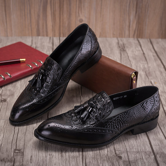 Calf Leather shoes  Men's Derby shoe good year Breathable Outsole Breathable Black flats Shoes