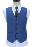 Slim Fit Royal Blue Linen Suits ,Summer Wedding Suit for Groomsmen Formal Dress for Men CB08163