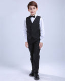 Black boys suits for weddings kids Blazer Suit for boy costume enfant garcon mariage