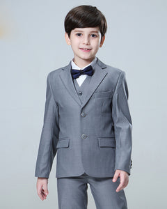 Gray Child Suit Boy Wedding Tuxedo 3 Pieces (jacket+pants+vest)