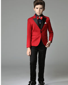 Red boys formal suit kids stage pefermence costume CB521