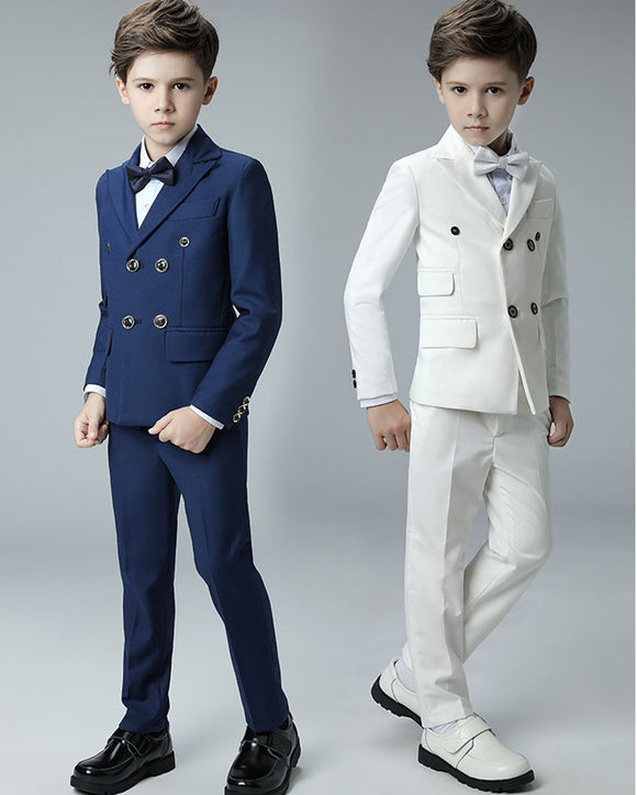 blue /Ivory Child Formal Suit for little boy