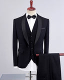 Slim Fit  Wedding Suits For Men Shawl Collar 3 Pieces Burgundy Suit Mens Royal Blue Tuxedo Jacket CB687