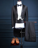Men's Retro Tailcoat Suit Jacket Long Jacket Victorian Frock Coat Cosplay Male Single Breasted Swallow Uniform