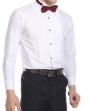Anti-wrinkl White Tuxedo Shirt - 95% Cotton Wing Collar Shirt with French Cuffs
