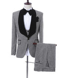 Three Pieces Houndstooth Tuxedo Wedding Suit for Men CB685