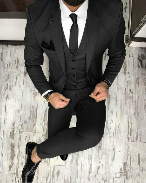 Olive Dark Green Men Blazer Prom Suit Outfits For