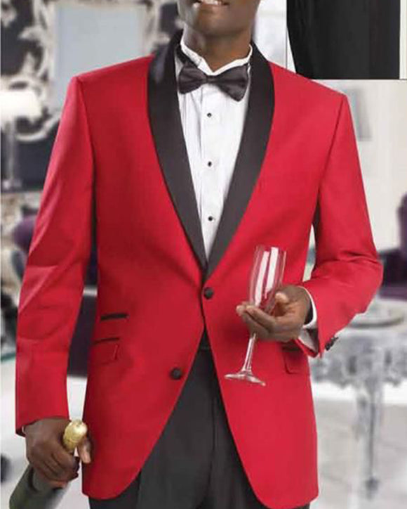 Slim Fit Red Tuxedo Wedding Groom Suits ,Formal Dress Prom Suits for Men 2 Pieces Jacket +Pants CB011113