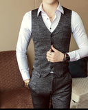 Formal Mens Suits Wedding Groom Costume  Slim Fit British Decent Dinner Suit Brown Blue SL004