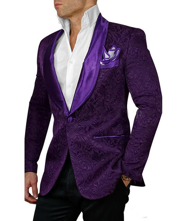 Purple 2 Pieces Tuxedo Men Prom Suit MX212